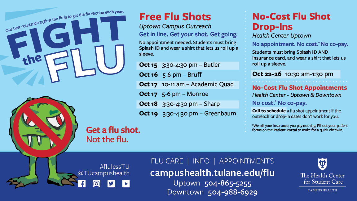 No-Cost Flu Shots for Students Available On Campus - Fall ...